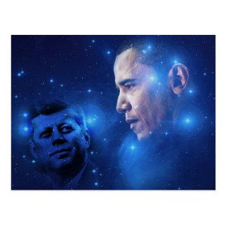 Paso de la antorcha, John F. Kennedy Barack Obama Postales