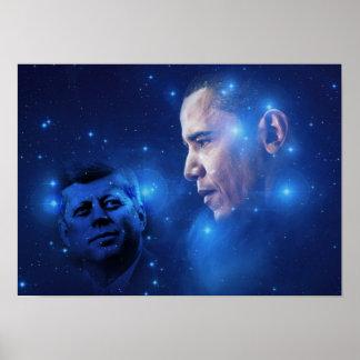 Paso de la antorcha, John F. Kennedy Barack Obama Póster