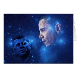 Paso de la antorcha, John F. Kennedy Barack Obama Tarjeta De Felicitación