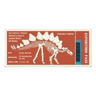 """Paso de la aventura del dinosaurio invitación 4"""" x 9.25"""""""