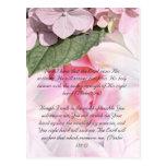 Paso de la biblia, postal color de rosa del diseño