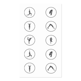 Paso de la clase de la tarjeta de visita de la yog