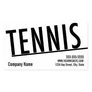 Paso de la clase de la tarjeta de visita del tenis