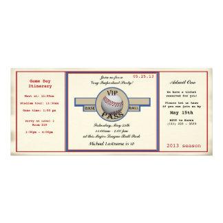 Paso de la fiesta de cumpleaños del béisbol invitaciones personalizada