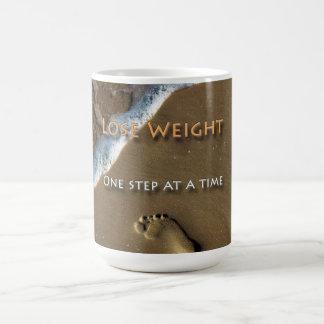 Paso de la pérdida una de la dieta y de peso a la taza de café
