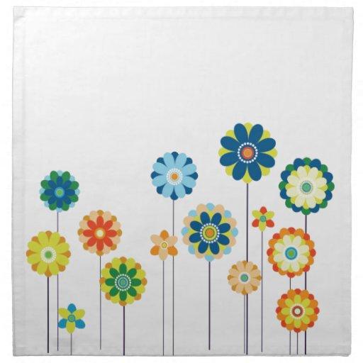 Paso de la primavera servilletas imprimidas