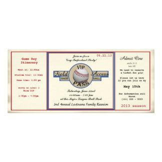 Paso de la reunión de familia del béisbol anuncio personalizado
