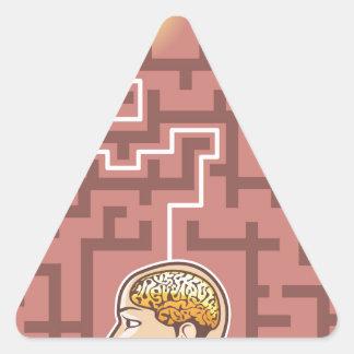 Paso de la reunión de reflexión de la creatividad pegatina triangular