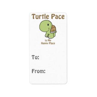 Paso de la tortuga - lugar feliz etiquetas de dirección
