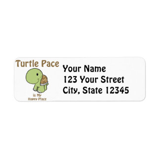 Paso de la tortuga - lugar feliz etiquetas de remite