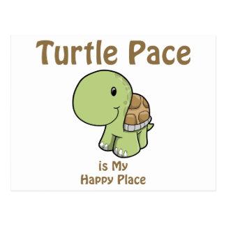 Paso de la tortuga - lugar feliz tarjeta postal