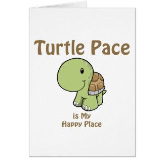 Paso de la tortuga tarjeta de felicitación