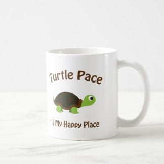 Paso de la tortuga taza básica blanca
