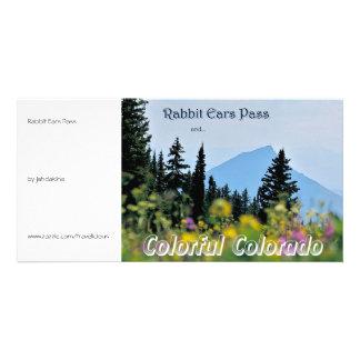 Paso de los oídos de conejo - estilo del vintage tarjeta personal con foto