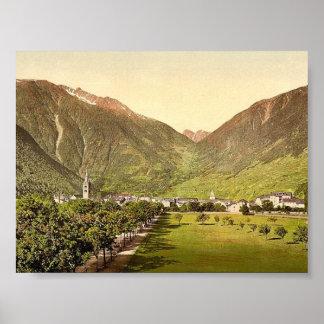 Paso de Martigny y de Forclay, Valais, montañas de Poster