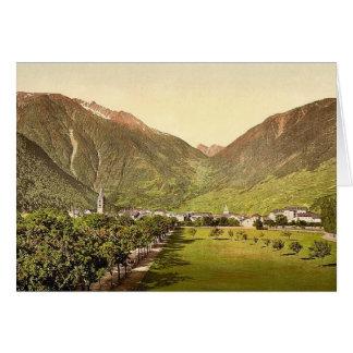 Paso de Martigny y de Forclay, Valais, montañas de Tarjeta