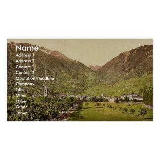 Paso de Martigny y de Forclay, Valais, montañas de Plantilla De Tarjeta De Visita