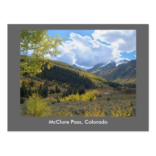 Paso de McClure, Colorado Postal
