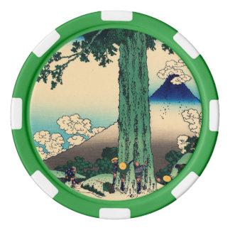 Paso de Michima en la provincia de Kai Juego De Fichas De Póquer