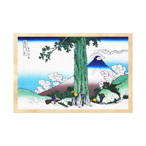 Paso de Mishima en la provincia de Kai Katsushika  Impresiones En Lona Estiradas