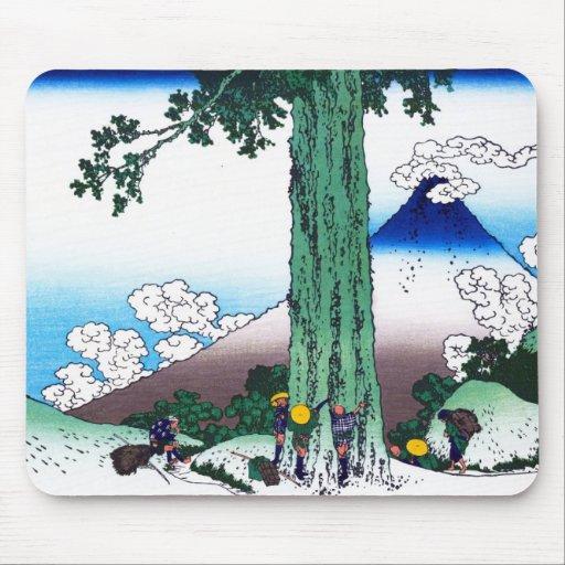 Paso de Mishima en la provincia de Kai Katsushika  Mouse Pads