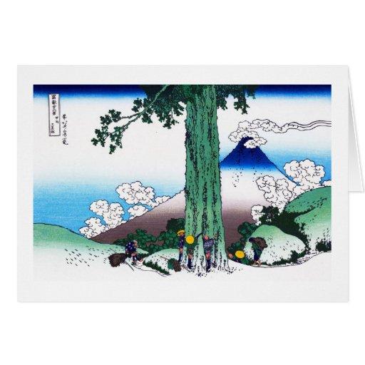 Paso de Mishima en la provincia de Kai Katsushika Tarjeta Pequeña