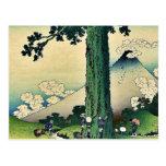 Paso de Mishima en la provincia de Kai, por Katsus Tarjeta Postal