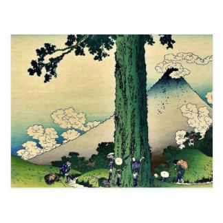 Paso de Mishima en la provincia de Kai por Katsus Tarjeta Postal