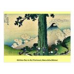 Paso de Mishima en la provincia de Kai, por Katsus Postal