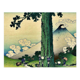 Paso de Mishima en la provincia de Kai, por Katsus Tarjetas Postales