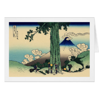 Paso de Mishima en la provincia de Kai Tarjeta