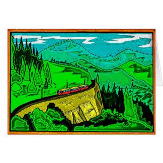Paso de montaña 2 tarjeta de felicitación