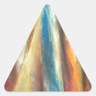 Paso de montaña escarpado (paisaje abstracto) calcomania de trianguladas