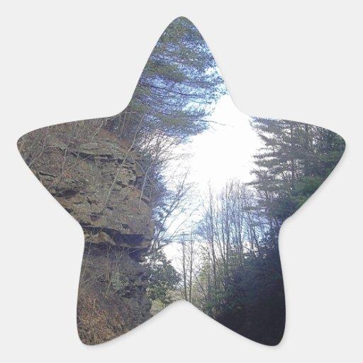 Paso de montaña calcomanía forma de estrella personalizadas