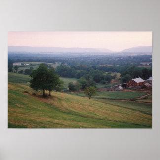Paso de Mountville, valle de Middletown, MD (peque Póster