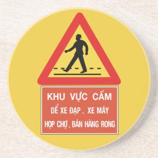 Paso de peatones (2), señal de tráfico, Vietnam Posavasos Para Bebidas