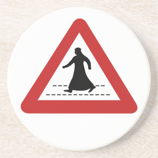 Paso de peatones, señal de tráfico, UAE Posavasos Personalizados