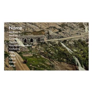 Paso de Simplon, Kaltwasser Gallerie, Valais, mont Plantilla De Tarjeta De Negocio