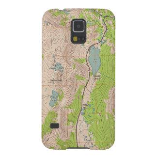 Paso de Tioga, mapa topográfico de California Carcasas De Galaxy S5