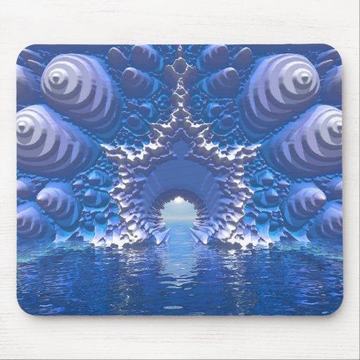 Paso del agua azul alfombrillas de raton