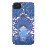 Paso del agua azul iPhone 4 Case-Mate cobertura