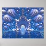Paso del agua azul poster