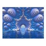 Paso del agua azul tarjeta postal