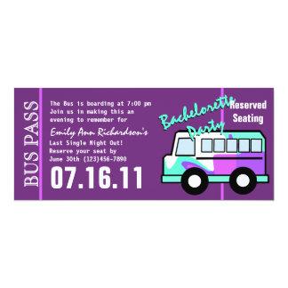 """Paso del autobús del fiesta de Bachelorette Invitación 4"""" X 9.25"""""""