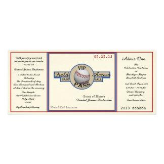 Paso del campo de béisbol del vintage anuncio personalizado