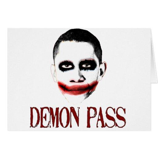 Paso del demonio - ObamaCare anti Tarjeta De Felicitación