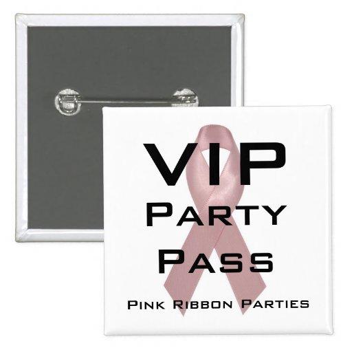 Paso del fiesta del VIP Pin Cuadrada 5 Cm