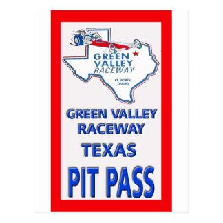 Paso del hoyo de la alcantarilla del valle verde tarjetas postales