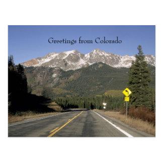 Paso del monarca de Colorado, postal de Colorado