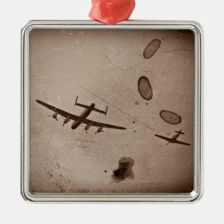 Paso elevado de Avro Lancaster Adorno Navideño Cuadrado De Metal